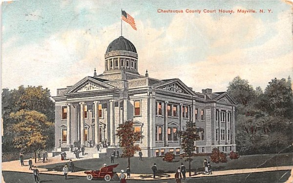 Vautauqua County Court House Mayville, New York Postcard