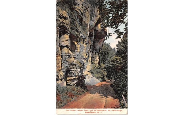 The Indian Ladder Road Meadowdale, New York Postcard