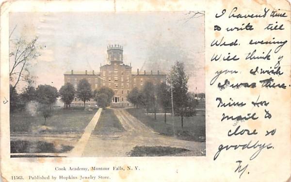 Cook Academy Montour Falls, New York Postcard