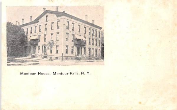 Montour House Montour Falls, New York Postcard