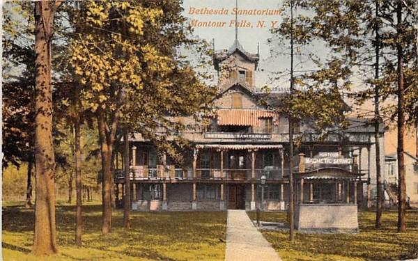 Bethesda Sanatorium Montour Falls, New York Postcard