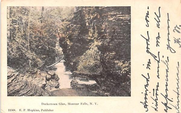 Deckertown Glen Montour Falls, New York Postcard