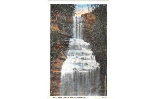 Aunt Sara's Falls Montour Falls, New York Postcard
