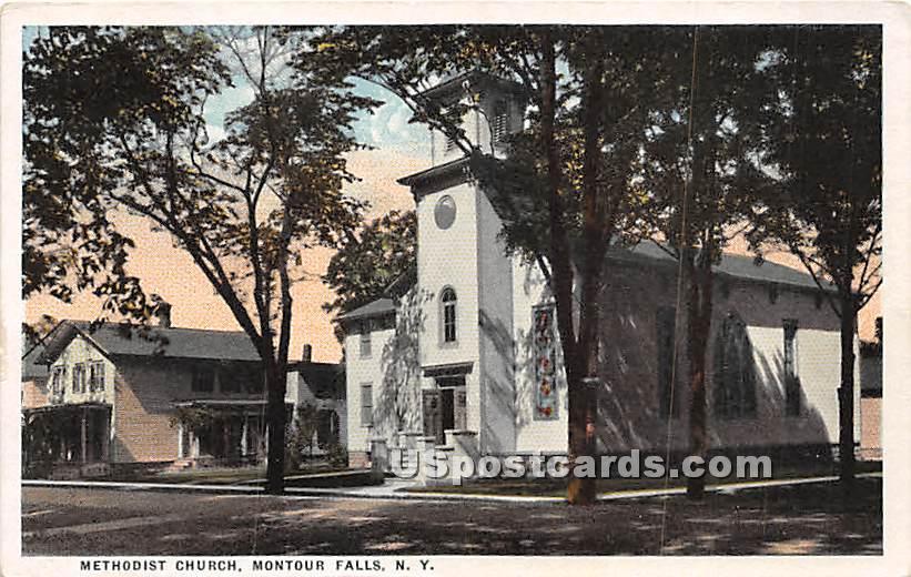Methodist Church - Montour Falls, New York NY Postcard