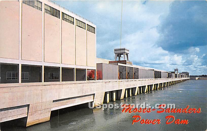 Moses Saunders Power Dam - Massena, New York NY Postcard