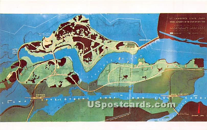 Billion Dollar St Lawrence River Seaway - Massena, New York NY Postcard
