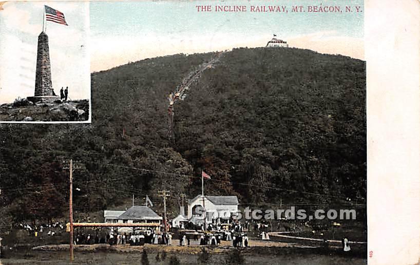 Incline Railway - Mt Beacon, New York NY Postcard