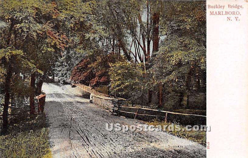 Buckley Bridge - Marlboro, New York NY Postcard
