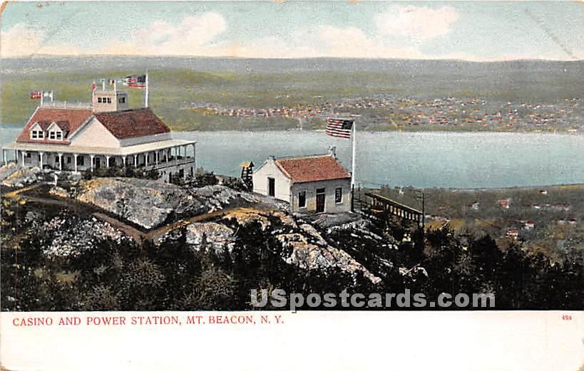 Casino & Power Station - Mt Beacon, New York NY Postcard