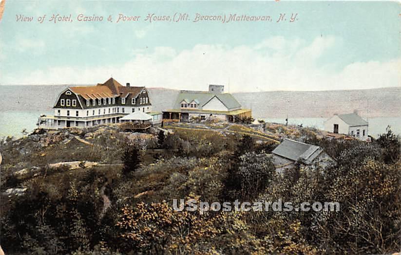 Hotel, Casino & Power House - Matteawan, New York NY Postcard