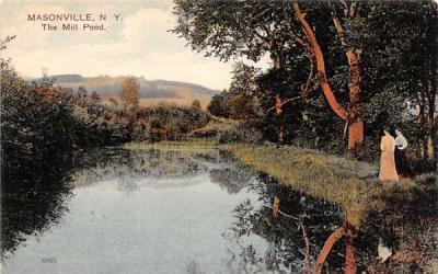 The Mill Pond Masonville, New York Postcard