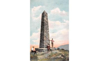 Monument on Summit of Mt Beacon Matteawan, New York Postcard