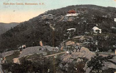 View from Casino Matteawan, New York Postcard