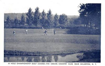 18 Hole Championship Golf Course Millbrook, New York Postcard