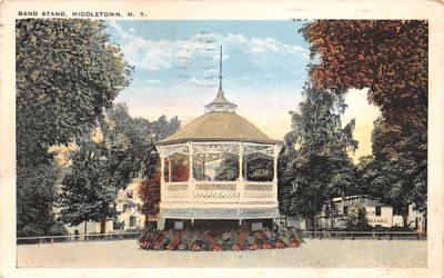 Band Stand Middletown, New York Postcard