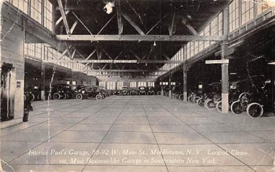 Interior Post Garage Co In Middletown, New York Postcard