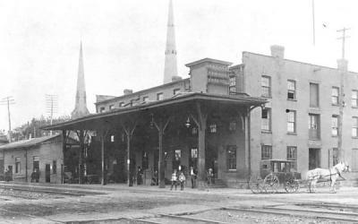 Erie Railroad Station Middletown, New York Postcard