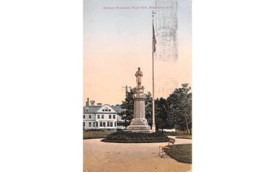 Soldiers' Monument Middletown, New York Postcard