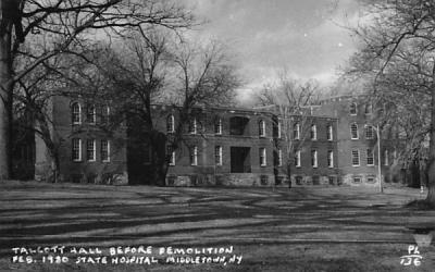 Talcott Hall Before Demolition Middletown, New York Postcard
