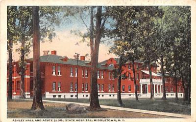 Ashley Hall & Acute Building Middletown, New York Postcard