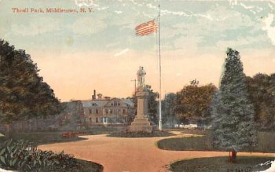 Thrall Park Middletown, New York Postcard
