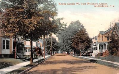 Knapp Avenue West from Wickham Avenue Middletown, New York Postcard