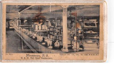 O & W Rail Road Restaurant Middletown, New York Postcard