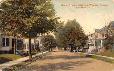 Knapp Avenue West from Wickham Avenue Middletown, New York Postcard