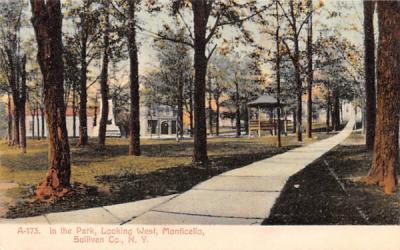 In the Park Monticello, New York Postcard