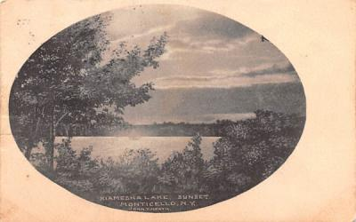 Kiamesha Lake Monticello, New York Postcard