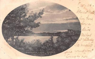 Kiamesha Lake Monticello, New York Postcard