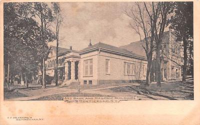 Bank & Masonic Buildings Monticello, New York Postcard