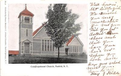 Congregational Church Madrid, New York Postcard