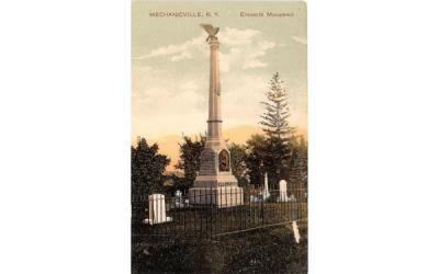 Ellsworth Monument Mechanicsville, New York Postcard