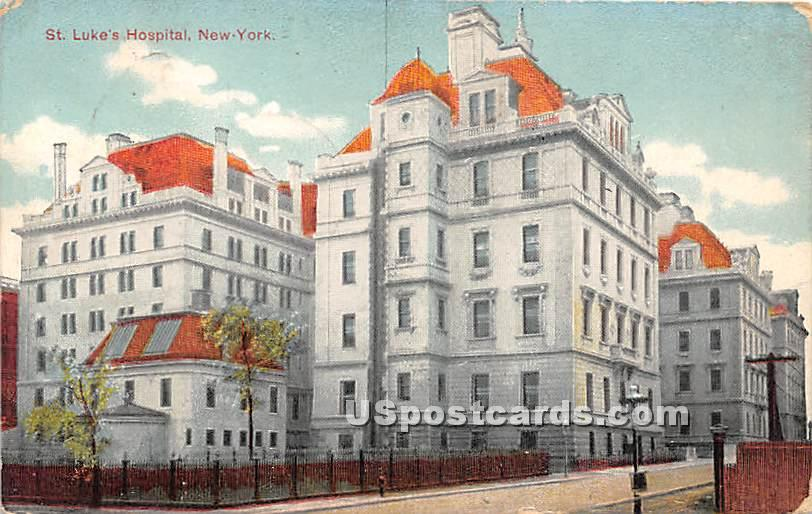 St Luk'e Hospital - Misc, New York NY Postcard