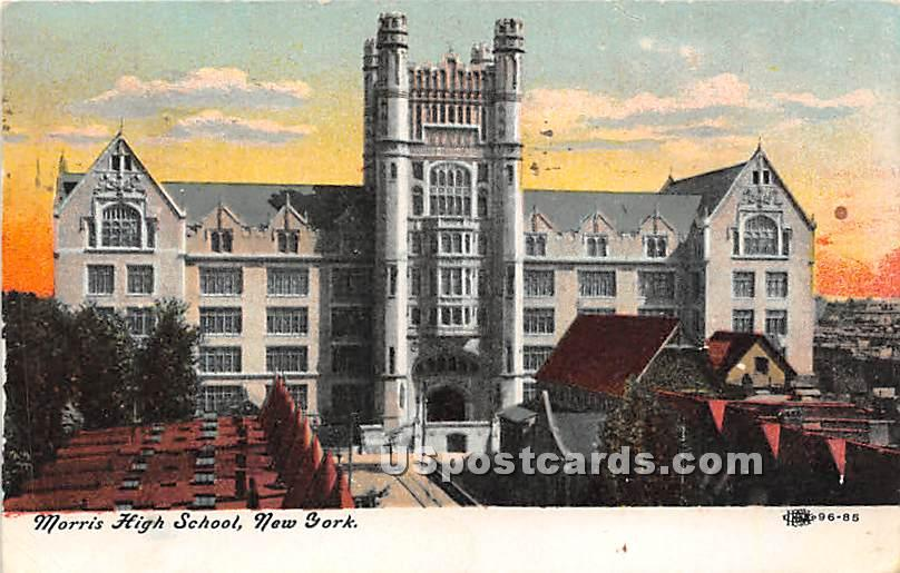 Morris High School - Misc, New York NY Postcard