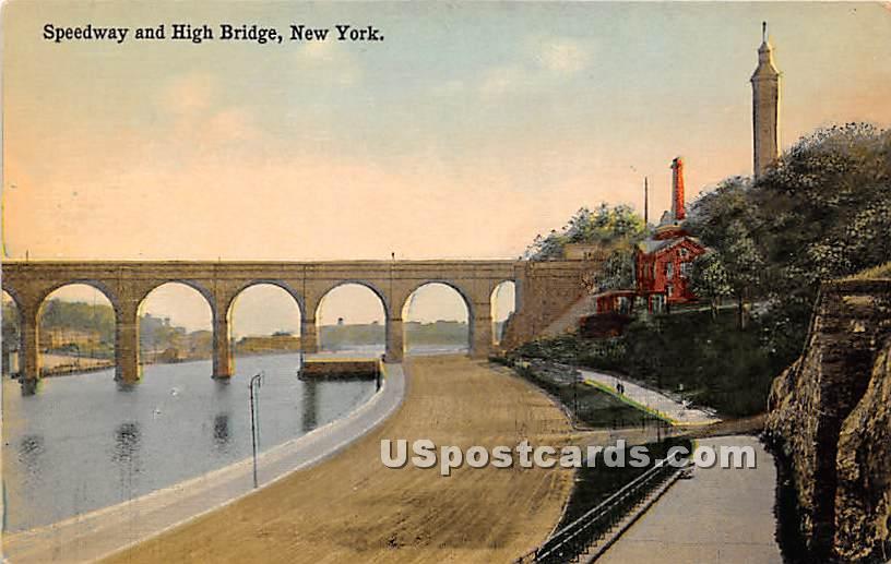Speedway & High Bridge - Misc, New York NY Postcard