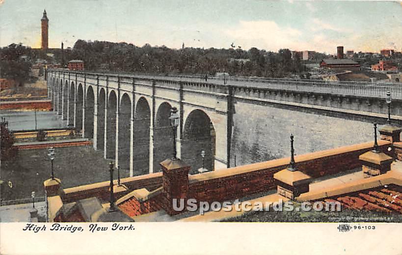 High Bridge - Misc, New York NY Postcard