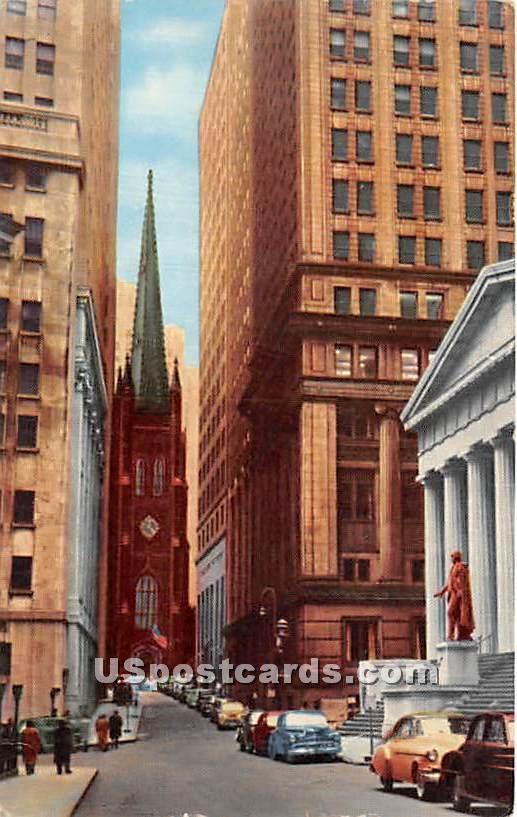Washington's Statue, Sub Treasury Building - Misc, New York NY Postcard