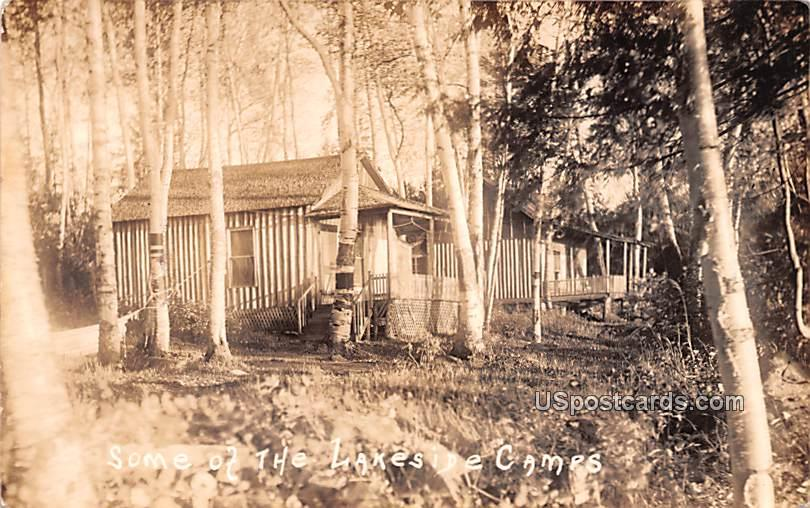 Some of the Lakeside Camps - Misc, New York NY Postcard