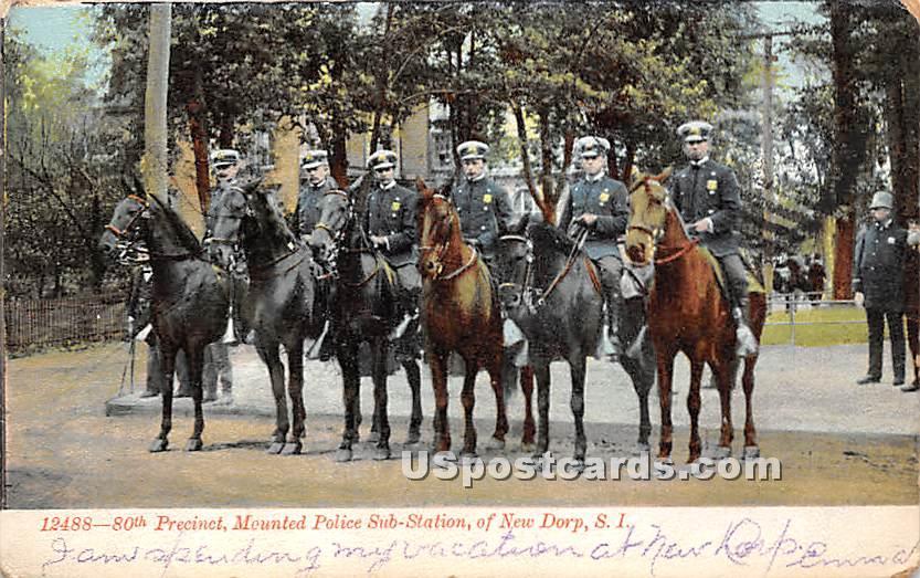 80th Precinct, Mounted Police Sub Station - New Dorp, New York NY Postcard