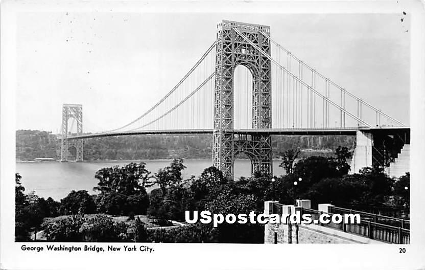 George Washington Bridge - New York City Postcards, New York NY Postcard