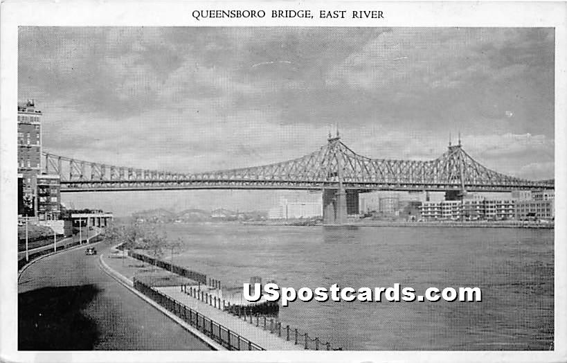 Queensboro Bridge - New York City Postcards, New York NY Postcard