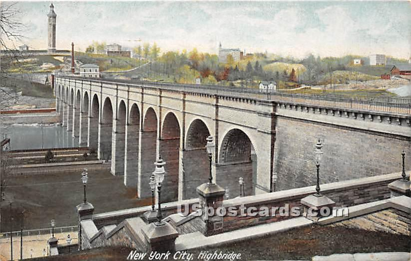 High Bridge - New York City Postcards, New York NY Postcard