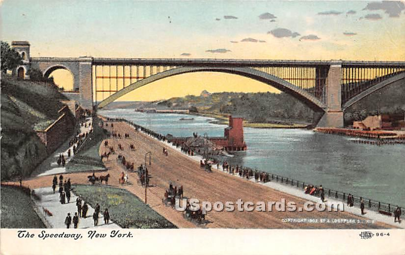 The Speedway - New York City Postcards, New York NY Postcard