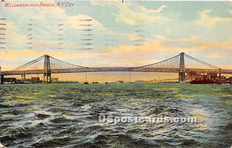 Williamsburgh Bridge - New York City Postcards, New York NY Postcard