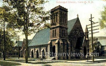 Episcopal Church - Norwich, New York NY Postcard