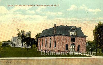 St. Andrew's Church - Norwood, New York NY Postcard
