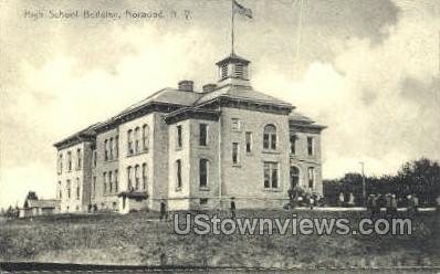 High School Bldg - Norwood, New York NY Postcard