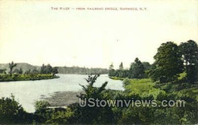 The River - Norwood, New York NY Postcard
